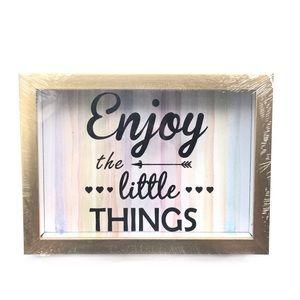 Enjoy The Little Things Wall Art Decor Frame